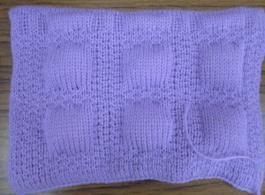 quilted knitting sample 2