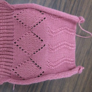 racking and hand transferred stitches