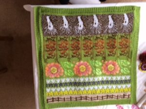 Lap Blanket reverse with seasonal flower pattern