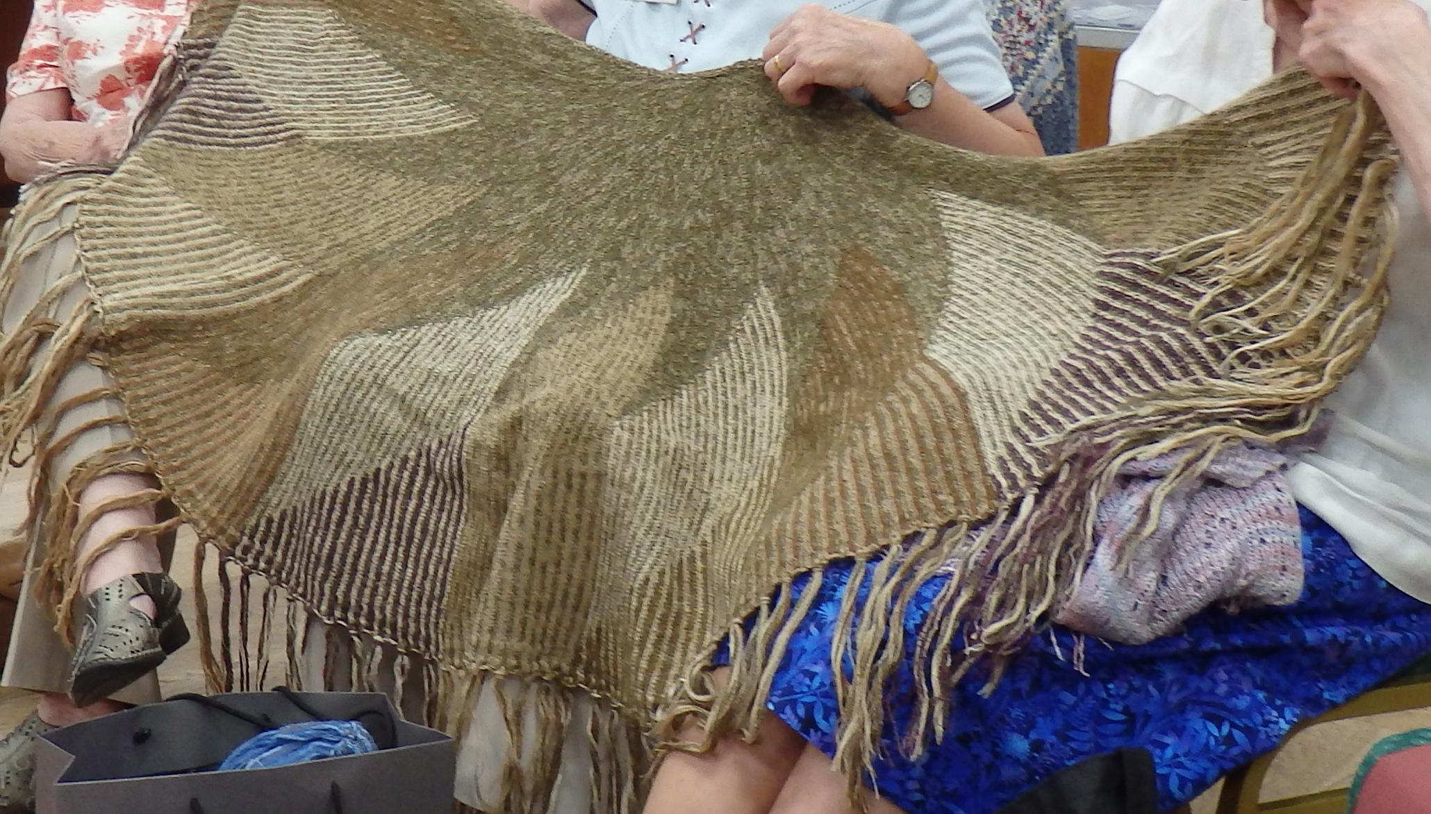 anthea's 1st iris Bishop pattern shawl
